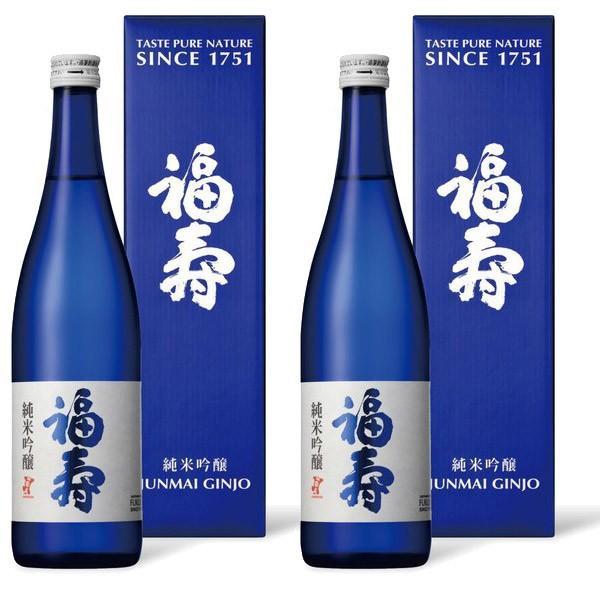 福寿 純米吟醸 化粧箱入り 720ml 2本セット