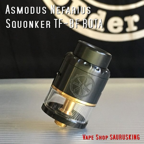 Asmodus Nefarius Squonker TF-BF RDTA 25mm color:Black /  アスモダス ネファリウス *正規品*|saurusking