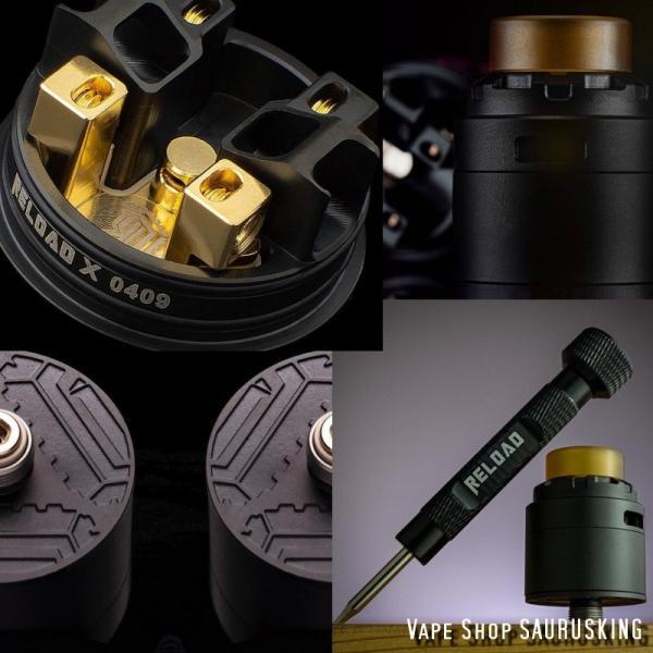 Reload X RDA 24mm <Black> ReLoad Vapor USA / リロード*正規品*VAPE saurusking 05