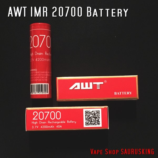 VAPE用バッテリー AWT IMR-20700 4200mAh 40A*正規品* saurusking