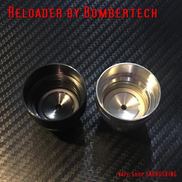 Reloader by Bombertech ブラック / リローダー by ボンバーテック 60ml ユニコーンボトル用 キャップ *正規品*リキッドチャージに saurusking 05