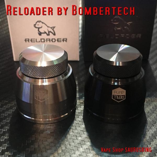 Reloader by Bombertech ブラック / リローダー by ボンバーテック 60ml ユニコーンボトル用 キャップ *正規品*リキッドチャージに saurusking 06