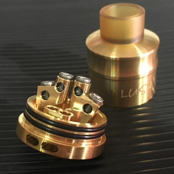 Wotofo Lush Plus RDA 24 / Gold  ウォトフォ ラッシュ プラス RDA 24mm ゴールド*正規品*|saurusking|02