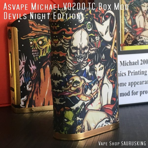 Asvape Michael VO200 TC Box Mod Devils Night Edition アスベイプ マイケル*正規品*VAPE BOX MOD|saurusking|03