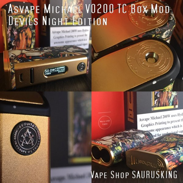 Asvape Michael VO200 TC Box Mod Devils Night Edition アスベイプ マイケル*正規品*VAPE BOX MOD|saurusking|05