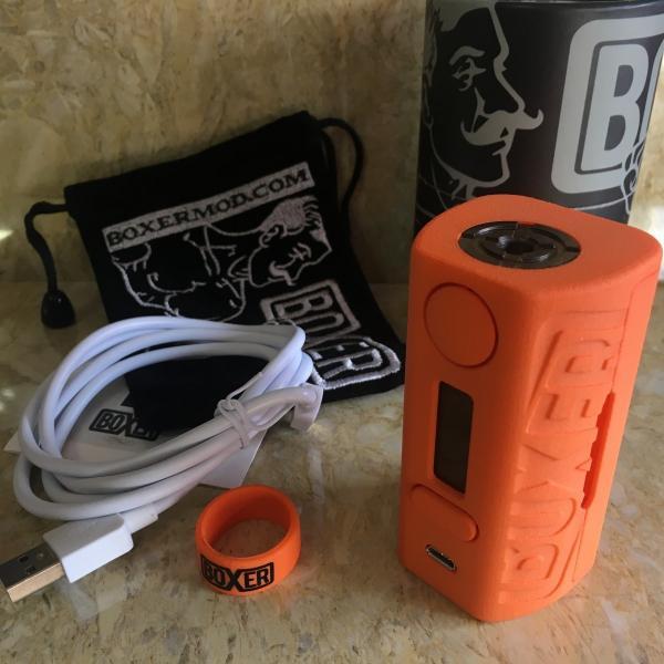 Boxer Mod Classic 167W DNA250 by Ginger Vaper / Orange ボクサー クラシック DNA250チップ搭載 オレンジ*正規品*VAPE BOX MOD saurusking 05