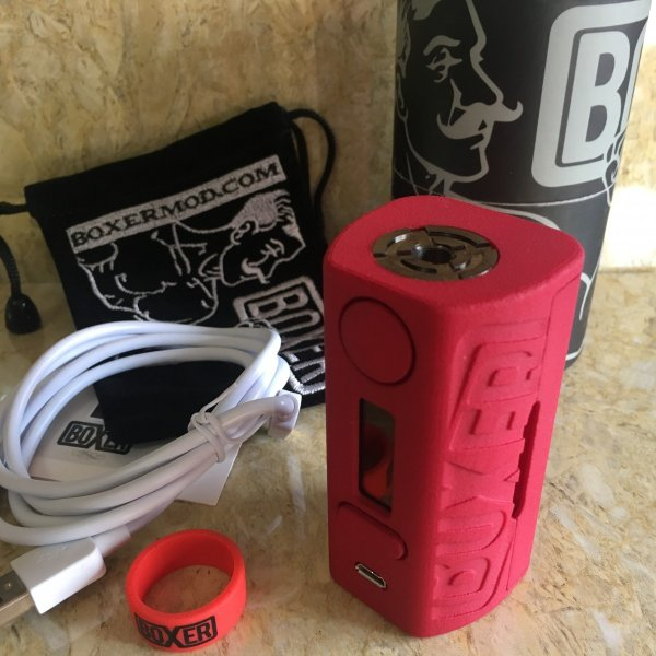 Boxer Mod Classic 167W DNA250 by Ginger Vaper  / Red ボクサー クラシック DNA250チップ搭載 レッド*正規品*VAPE BOX MOD|saurusking|05