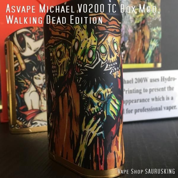 Asvape Michael VO200 TC Box Mod Walking Dead Edition アスベイプ マイケル*正規品*VAPE BOX MOD|saurusking|02