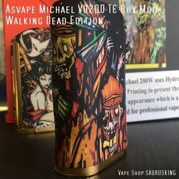 Asvape Michael VO200 TC Box Mod Walking Dead Edition アスベイプ マイケル*正規品*VAPE BOX MOD|saurusking|03