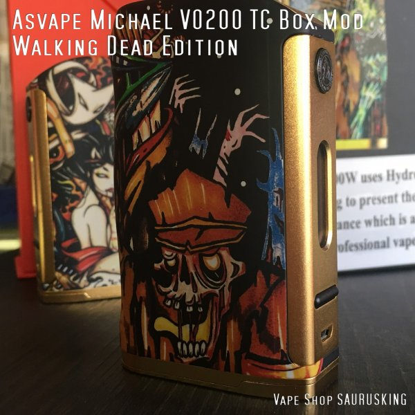 Asvape Michael VO200 TC Box Mod Walking Dead Edition アスベイプ マイケル*正規品*VAPE BOX MOD|saurusking|04