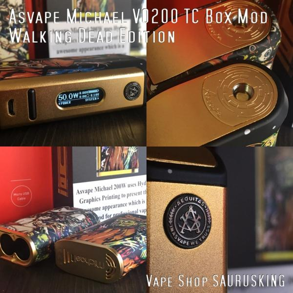 Asvape Michael VO200 TC Box Mod Walking Dead Edition アスベイプ マイケル*正規品*VAPE BOX MOD|saurusking|05