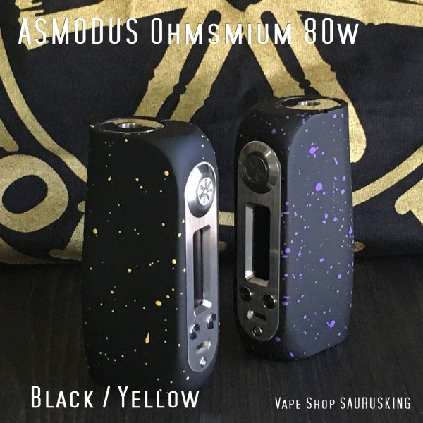 Asmodus Ohmsmium 24 GX80 Box Mod / Black & Yellow アスモダス オームズミウム ブラック&イエロー*正規品*VAPE BOX MOD|saurusking|02