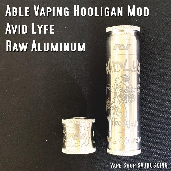AV Avid Lyfe Raw Aluminum Vaping Hooligan Able Mod [Alumium] / アヴィッドライフ エーブル メック モッド*USA正規品* VAPE|saurusking