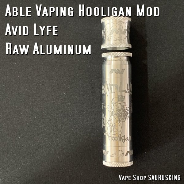 AV Avid Lyfe Raw Aluminum Vaping Hooligan Able Mod [Alumium] / アヴィッドライフ エーブル メック モッド*USA正規品* VAPE|saurusking|02