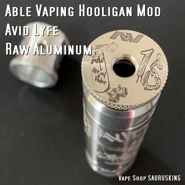 AV Avid Lyfe Raw Aluminum Vaping Hooligan Able Mod [Alumium] / アヴィッドライフ エーブル メック モッド*USA正規品* VAPE|saurusking|03