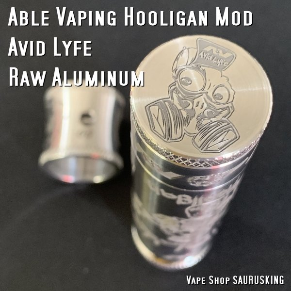 AV Avid Lyfe Raw Aluminum Vaping Hooligan Able Mod [Alumium] / アヴィッドライフ エーブル メック モッド*USA正規品* VAPE|saurusking|04