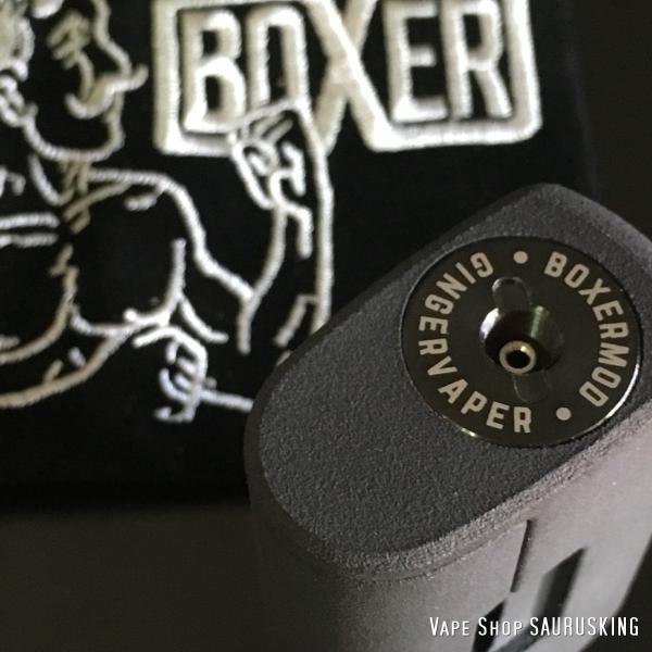 Boxer Mod Classic BF Squonk Mechanical Mod by Ginger Vaper  / Black ボクサー クラシック スコンカー メカニカルモッド / ブラック*正規品*VAPE BOX MOD|saurusking|04