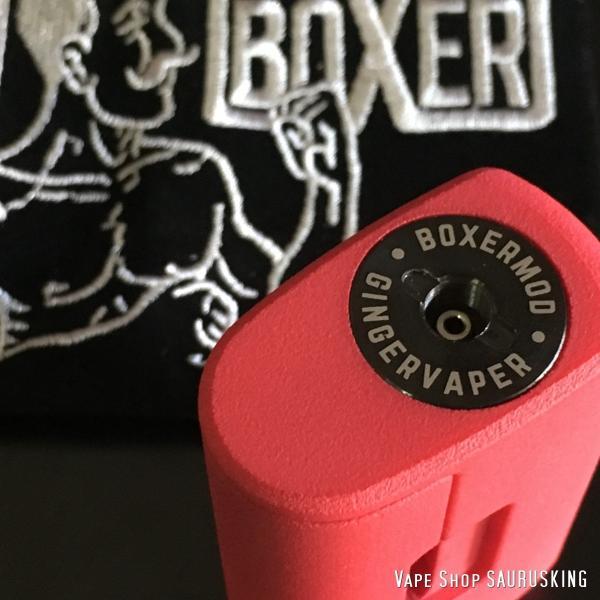 Boxer Mod Classic BF Squonk Mechanical Mod by Ginger Vaper  / Red ボクサー クラシック スコンカー メカニカルモッド / レッド*正規品*VAPE BOX MOD|saurusking|04