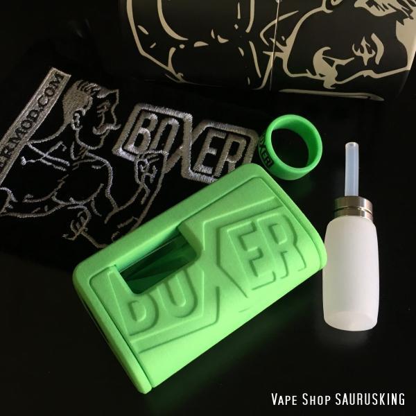 Boxer Mod Classic BF Squonk Mechanical Mod by Ginger Vaper  / Green ボクサー クラシック スコンカー メカニカルモッド / グリーン*正規品*VAPE BOX MOD|saurusking|05