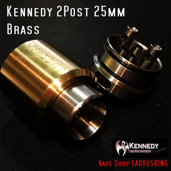 Kennedy Roundhouse Wings of Destiny Brass 25mm Combo V2 / ケネディ*正規品*VAPE RDA + Mechanical Tube MOD|saurusking|05