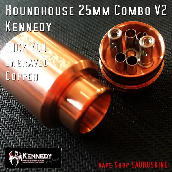 Kennedy Roundhouse Fuck You Copper 25mm Combo V2 / ケネディ*正規品*VAPE RDA + Mechanical Tube MOD saurusking 04
