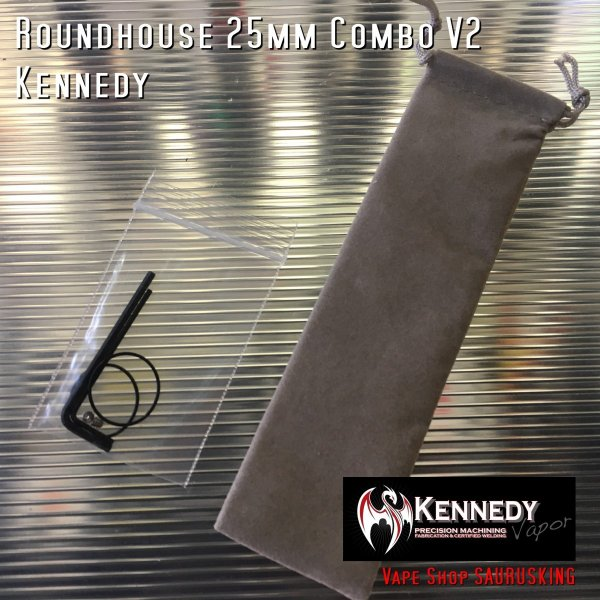Kennedy Roundhouse Fuck You Copper 25mm Combo V2 / ケネディ*正規品*VAPE RDA + Mechanical Tube MOD saurusking 05