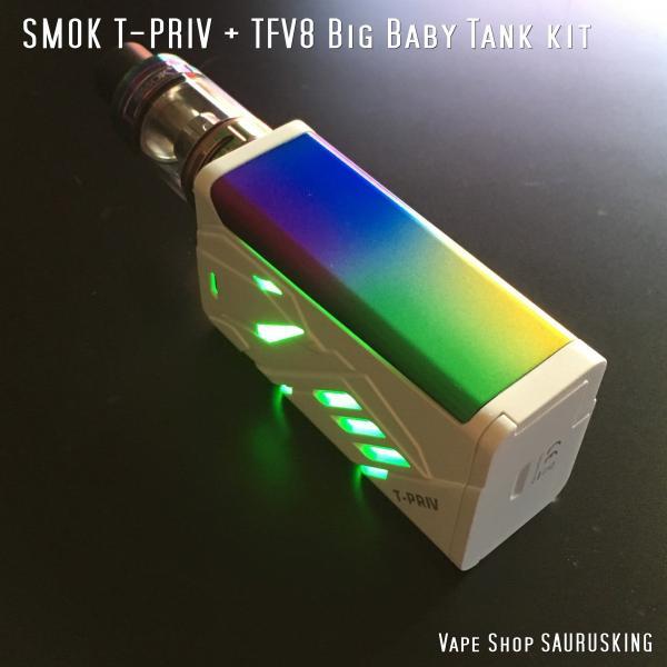 SMOK T-PRIV + TFV8 Big Baby Tank kit Color:White Rainbow / スモック ホワイトレインボー*正規品*|saurusking|04