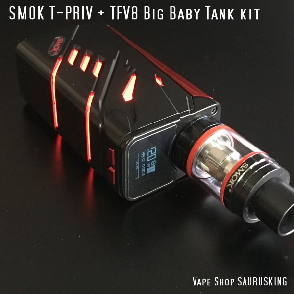 SMOK T-PRIV + TFV8 Big Baby Tank kit Color:Black / スモック ブラック*正規品*|saurusking|02