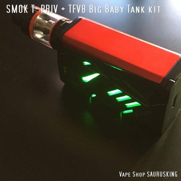 SMOK T-PRIV + TFV8 Big Baby Tank kit Color:Black / スモック ブラック*正規品*|saurusking|04