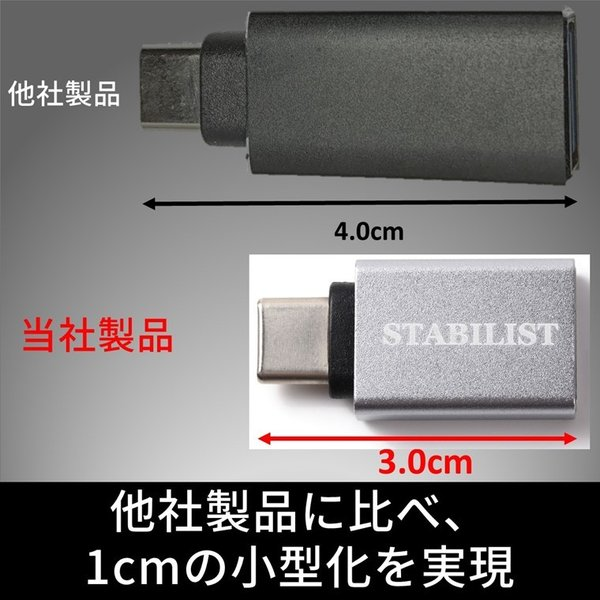標準USB Type-C 変換アダプタ 2個セット USB3.0 USBA to usb-c 変換コネクタ  usbc プラグ 変換 タイプc 充電 データ転送 USB-A|savileman|05