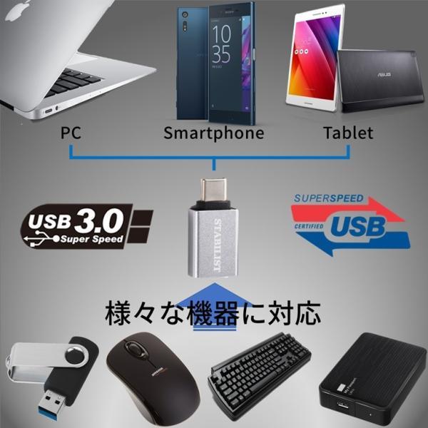 標準USB Type-C 変換アダプタ 2個セット USB3.0 USBA to usb-c 変換コネクタ  usbc プラグ 変換 タイプc 充電 データ転送 USB-A|savileman|07