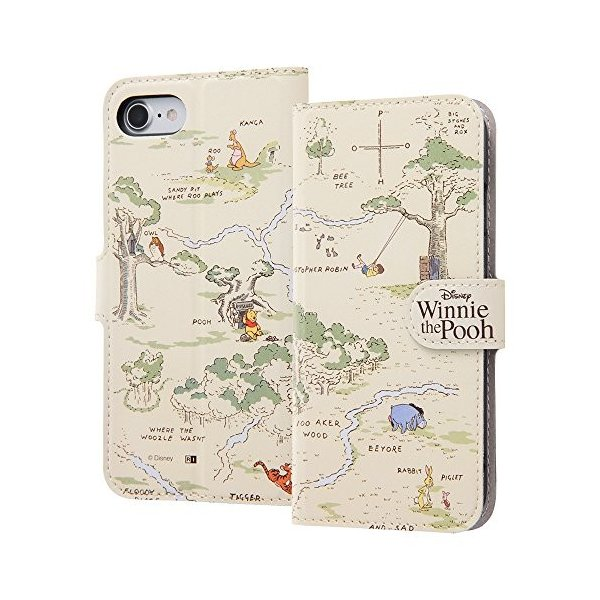 c371217a1d iPhone 8 iPhone7ケース くまのプーさん ディズニー 手帳型 :0255-002411 ...