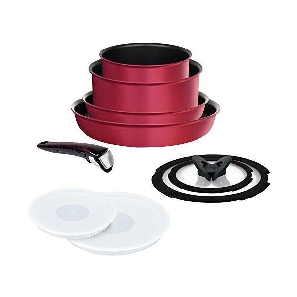 ティファール フライパン 鍋 9点セット IH T-fal インジニオ・ネオ IHルビー・エクセレンス チタン 6層コーティング L66392 送料無料 新生活|sawagift