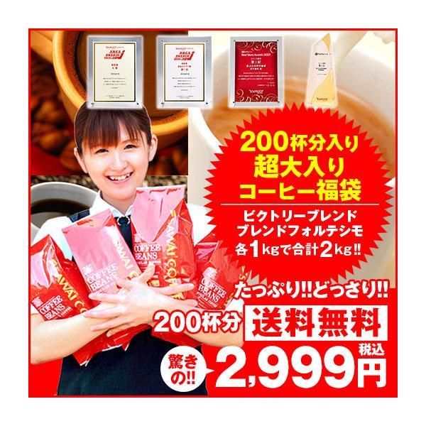 澤井珈琲コーヒー福袋200杯分入り超大入セットレギュラーコーヒービクトリーブレンドブレンドフォルテシモ珈琲福袋2kg