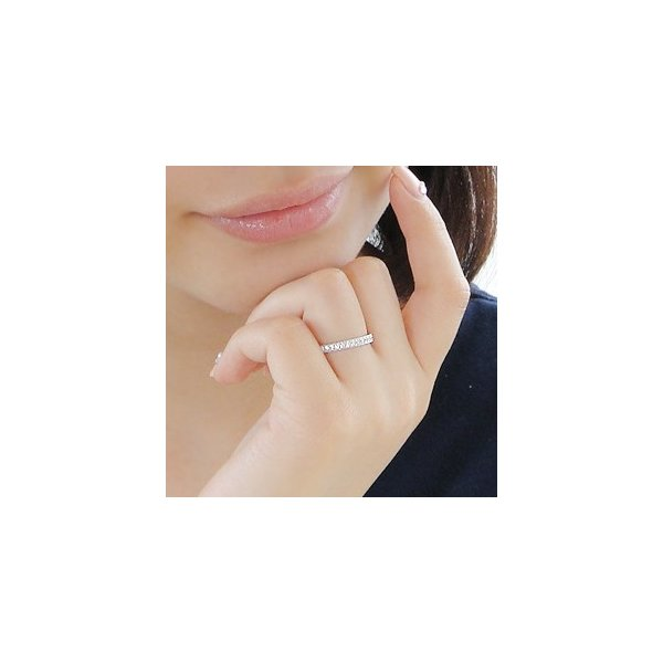 ダイヤモンドリング プラチナ pt900 リング 指輪 ダイヤモンド ダイヤ ミル打ち フルエタニティ エタニティ 人気 0.5ct SAR0021
