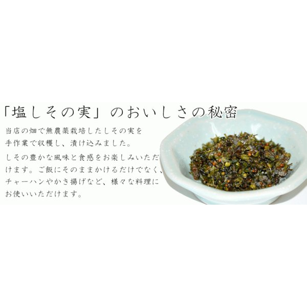 自家製 塩しその実 漬物 塩漬け 無農薬 製造元直送 約230g|sawatsuke|05