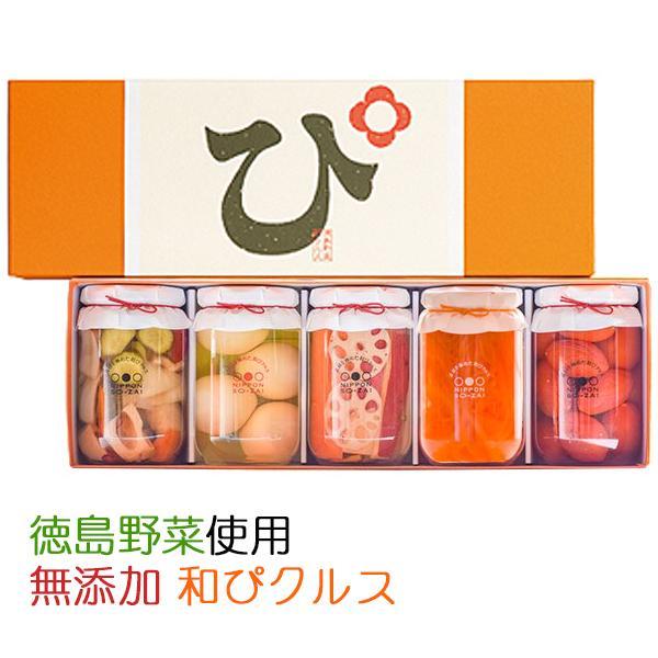 国産・無添加!素材を極めた和ピクルス「徳島ぴクルス」大瓶 5種セット(エイブルフーズ) のし対応可