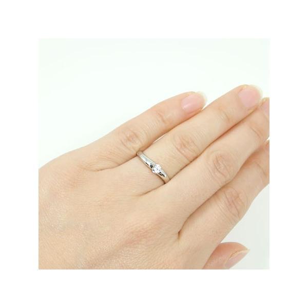 K18WGホワイトゴールド ダイヤモンド エンゲージ ブライダル リング 結婚指輪 鑑別書付 SI1