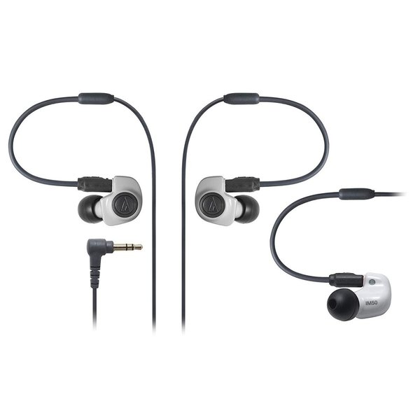 audio-technica IM Series カナル型モニターイヤホン デュアル・シンフォニックドライバー ホワイト ATH-IM50