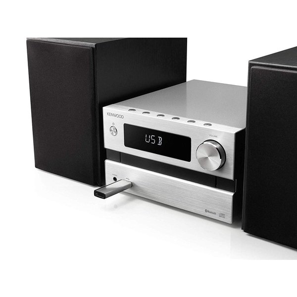 ケンウッド ミニコンポ Bluetooth対応 25W+25WコンパクトHi-Fiシステム M-EB50-S シルバー(MEB50S)