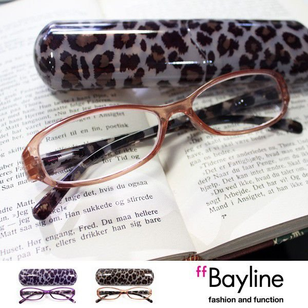 Bayline(ベイライン) リーディンググラス(老眼鏡) クリアフレーム ヒョウ 老眼鏡 シニアグラス おしゃれ 女性
