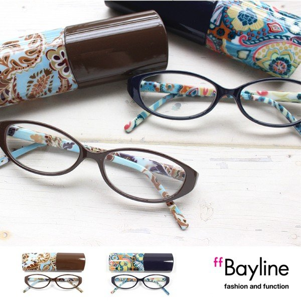 Bayline リーディンググラス(老眼鏡) オーバルフレーム ペイズリー 老眼鏡  シニアグラス 女性  おしゃれ