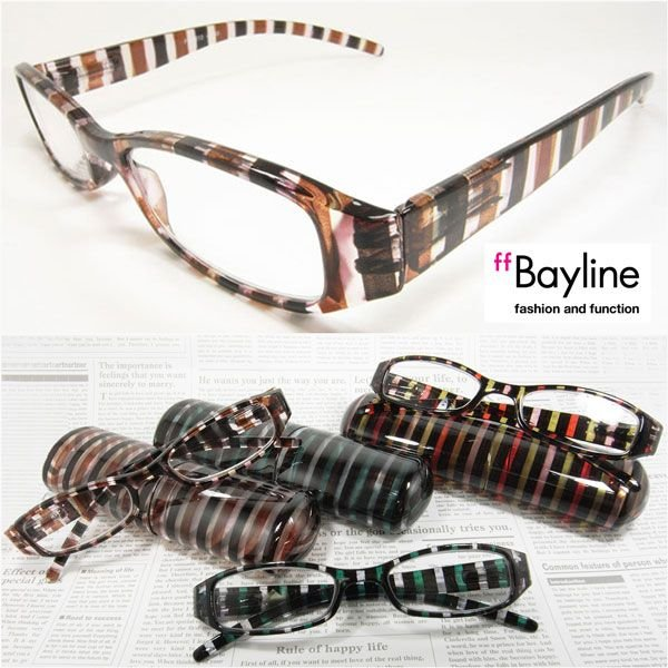 【SALE】おしゃれ老眼鏡 クリアストライプ 眼鏡 めがね メガネ シニアグラス リーディンググラス 女性用 男性用