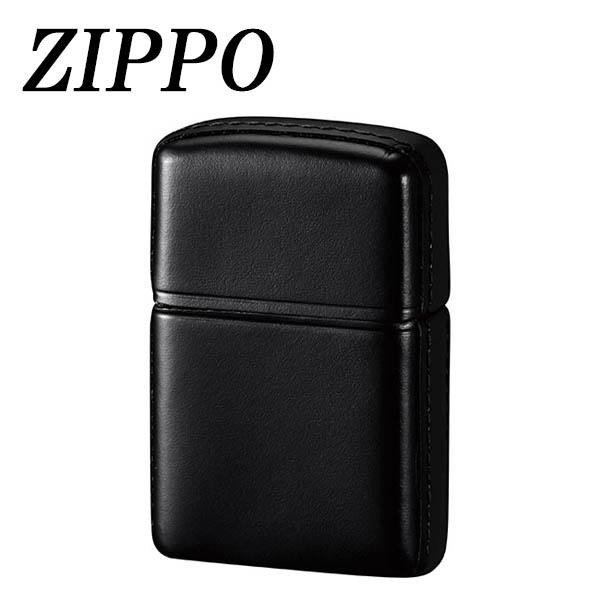 ZIPPO 革巻 松阪牛 ブラック 喫煙グッズ 高級感のある艶と風格…松阪牛の革巻きZIPPO。