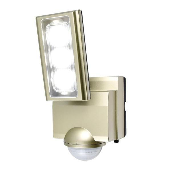 ELPA(エルパ) 屋外用LEDセンサーライト AC100V電源(コンセント式) ESL-ST1201AC ガーデニング・花・植物・DIY センサーが人や車の動きを検知して自動点灯。