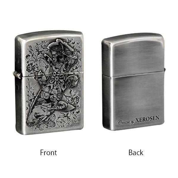 ZIPPO(ジッポー) オイルライター XEROSEN(ゼロセン) シーラカンス (♯162) 70197 喫煙グッズ アンティークなデザインと調和した、銀のイブシ装飾。