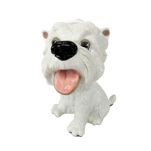 眼鏡スタンド(ホワイトテリア) 32003 衛生用品 犬のデザインがかわいい眼鏡スタンド。