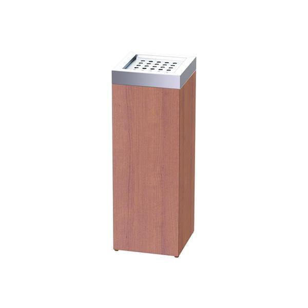 ぶんぶく ウッドシリーズROAST スモーキングスタンド WSR-SM-MB オフィス収納 木とステンレスパーツで構成されたスモーキングスタンド。
