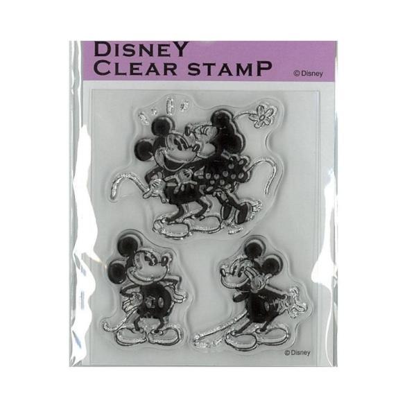 Paper Intelligence Disney(ディズニー) クラシカルスタンプ ミッキー&ミニー1 STP-D0010 4101404 文具 アルバムや手紙のデコレーションにおすすめです♪