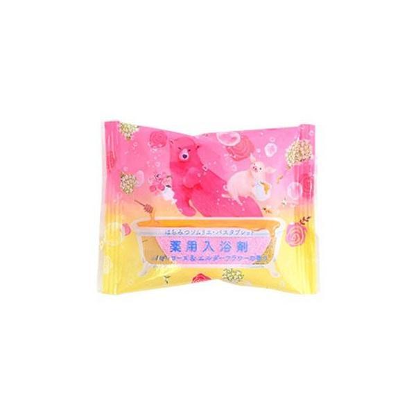 はちみつソムリエ・バスタブレット ハニーローズ&エルダーフラワーの香り 12個入り バス 洗面 発泡タイプの薬用入浴剤。